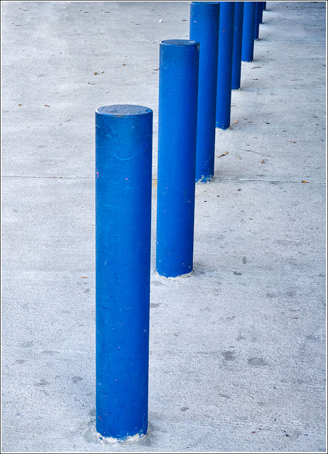 Blue poles with apologies to Jackson Pollock