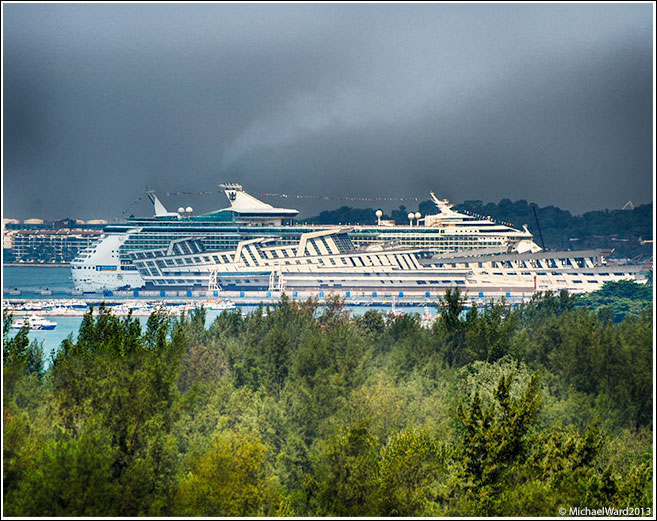 Cruise terminal from a distance 600mm lens