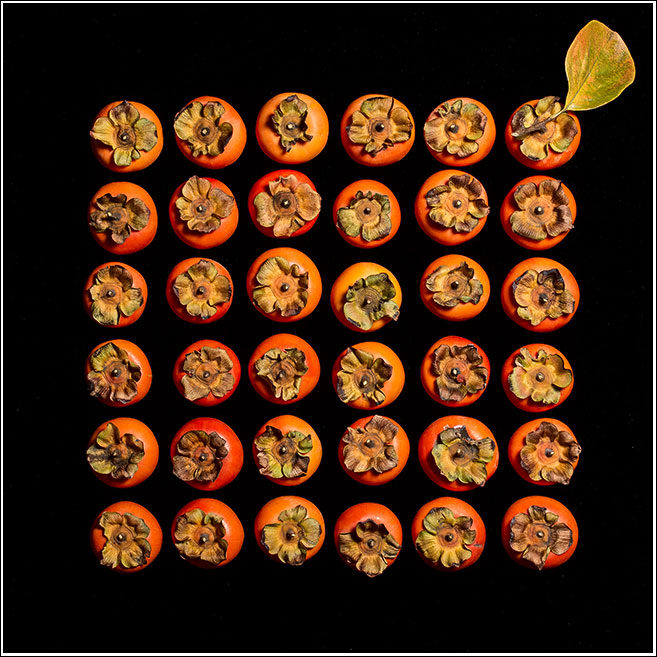 Persimmons with accent
