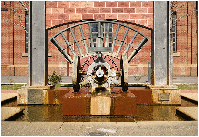 Machine parts fountain