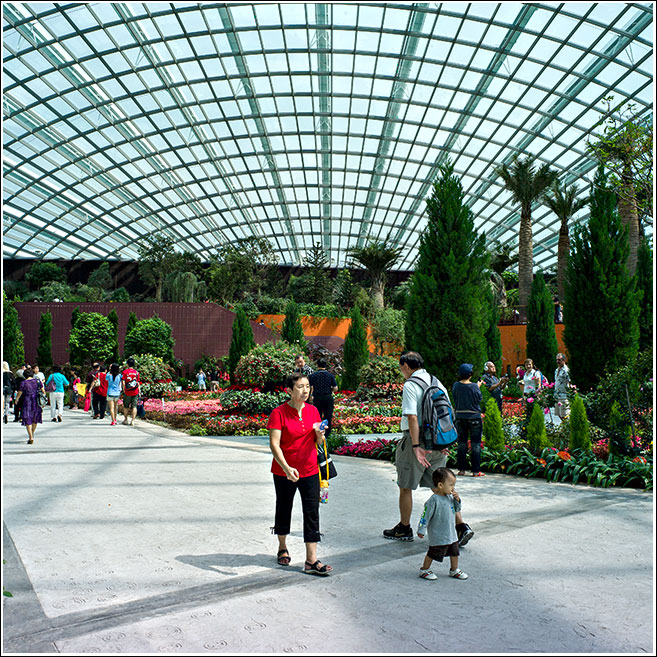 A walk in perhaps the largest 'indoor' gardens on the planet