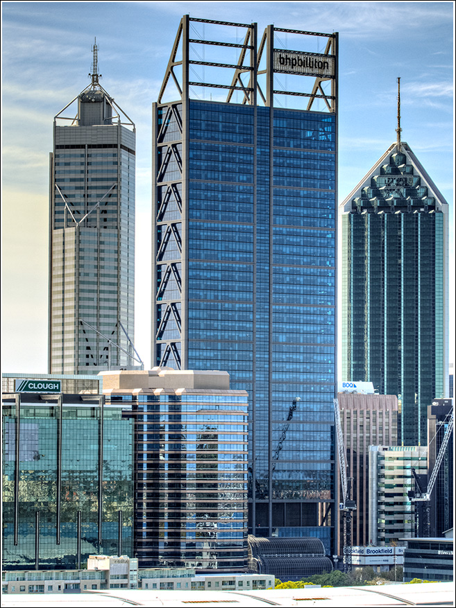 The BHP building the largest on the Perth skyline