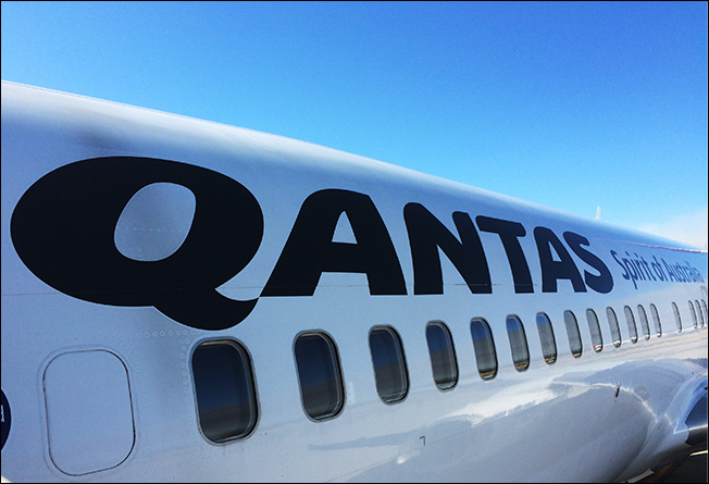 Quantas pretty good service this time