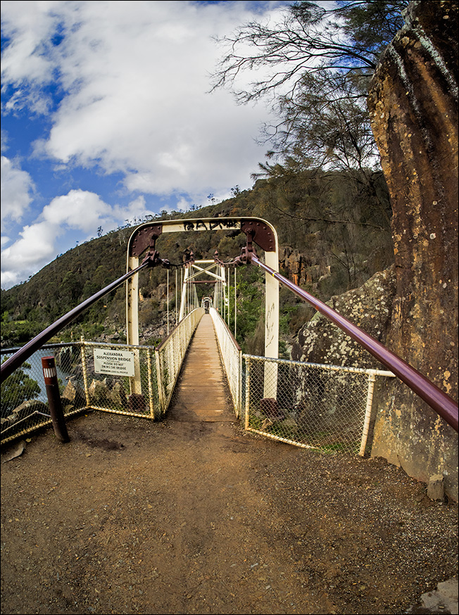 Alexandra suspension bridge in the Cataract gorge